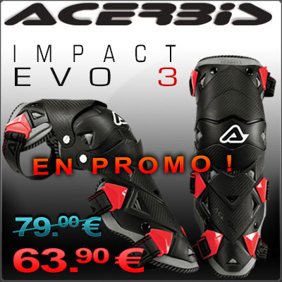 Promo genouillères Acerbis Impacrt Evo 3