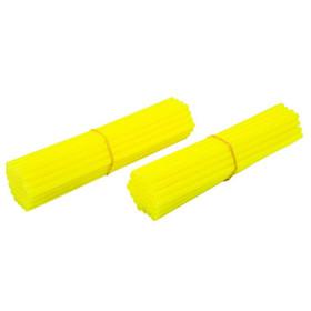 Couvre rayons de moto jaune fluorescent