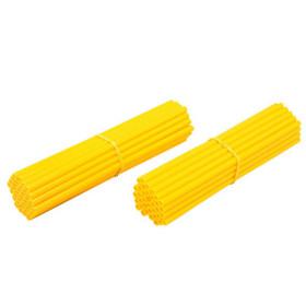 Couvre rayons de moto jaune