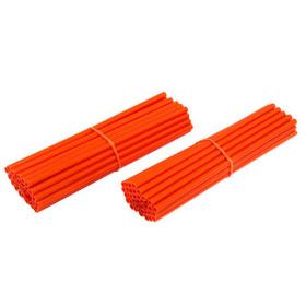 Couvre rayons de moto oranges