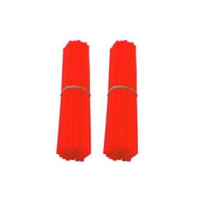 Couvre rayons de moto rouge fluorescent