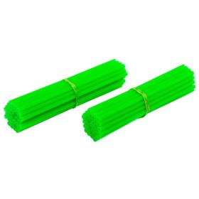 Couvre rayons de moto vert fluorescent