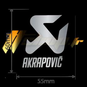 Autocollant Sticker Akrapovic résistant à la chaleur 55mm x 60mm - P-VST18AL