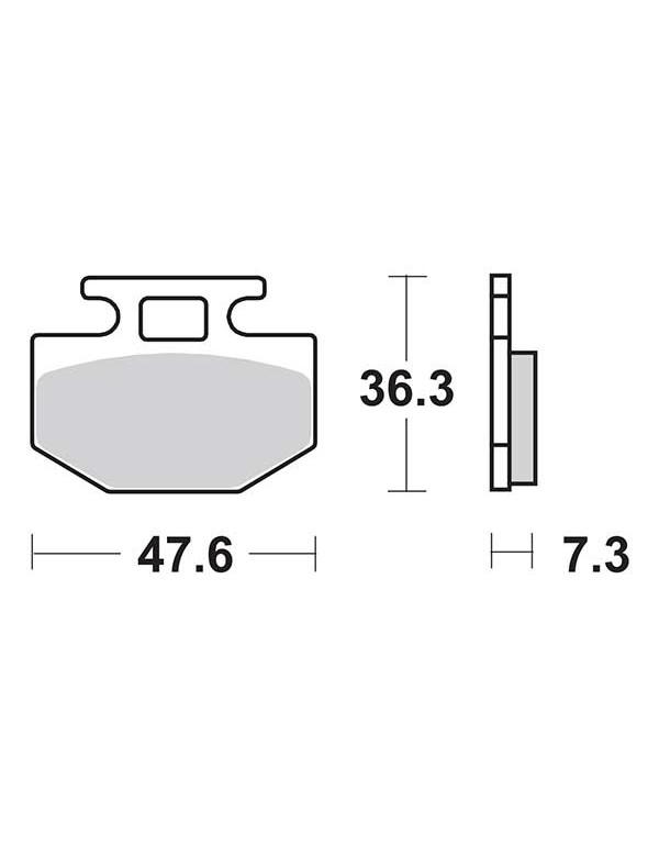 Plaquettes de frein SBS 112CT