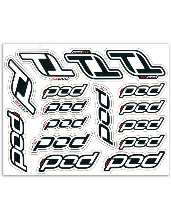Feuille de stickers Pod MX