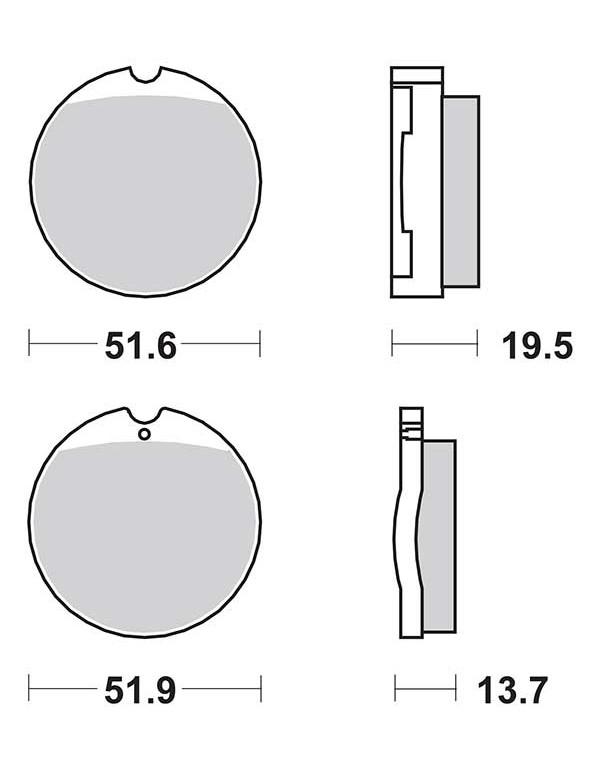 Plaquettes de frein SBS 501HF