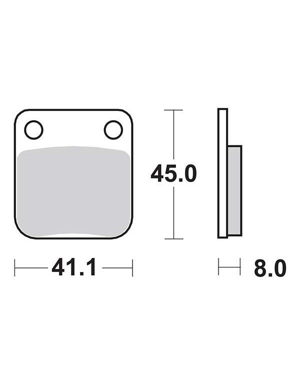 Plaquettes de frein SBS 536HF