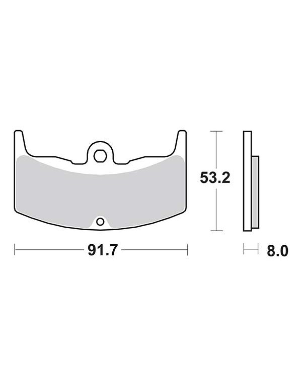 Plaquettes de frein SBS 552HF
