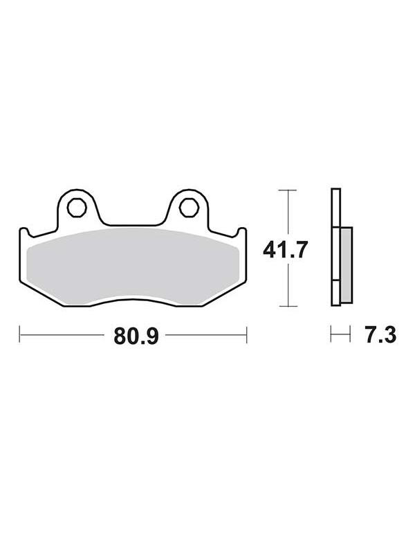 Plaquettes de frein SBS 558HF