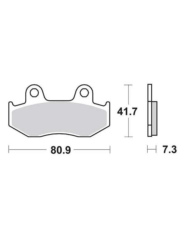 Plaquettes de frein SBS 558SI