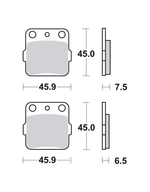 Plaquettes de frein SBS 562SI