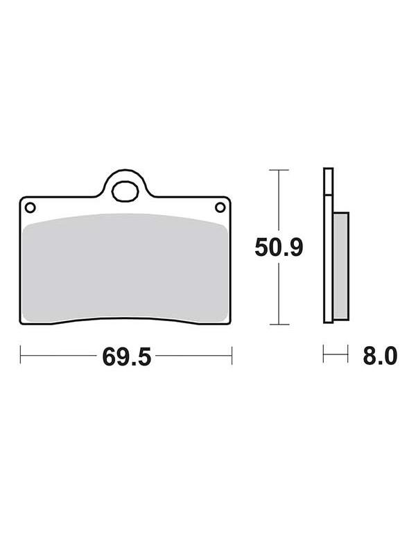 Plaquettes de frein SBS 566DC