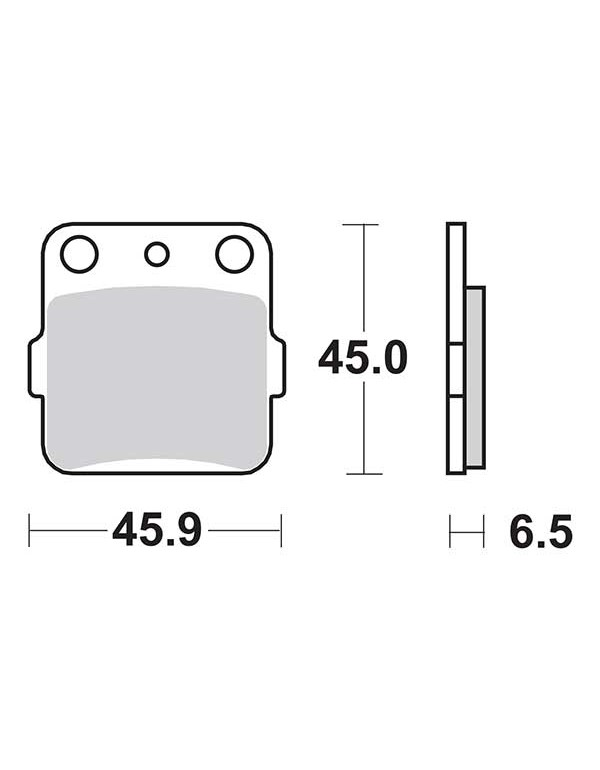 Plaquettes de frein SBS 584RSI