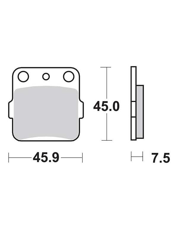 Plaquettes de frein SBS 592SI