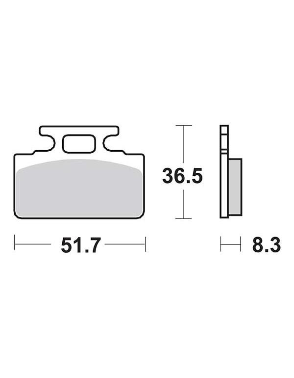 Plaquettes de frein SBS 618HF