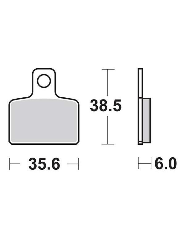 Plaquettes de frein SBS 803HF