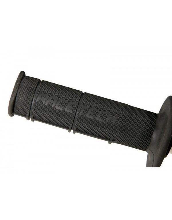 Grips racetech souples-Cross / Enduro Long. 115mm-Noir