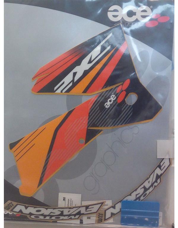 kit déco réservoir pour KTM EXC 2 temps TTES 2005/2007