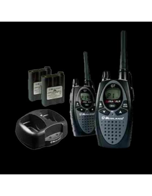 ALAN G7 Pack de 2 talkies avec chargeur double de bureau et alimentation et 2 batteries