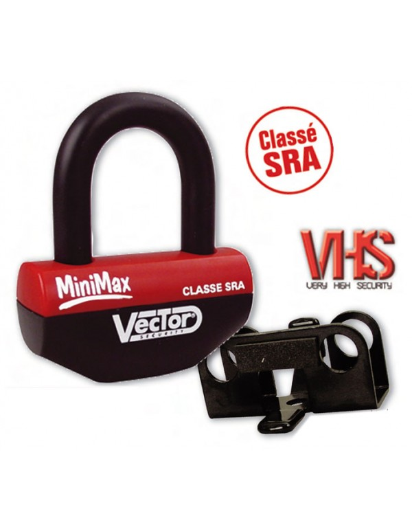 Antivol VECTOR MINIMAX Classé SRA bloque-disque