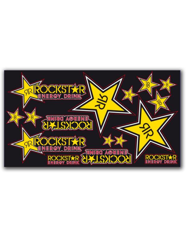 Planche stickers rockstar team vinyl épais