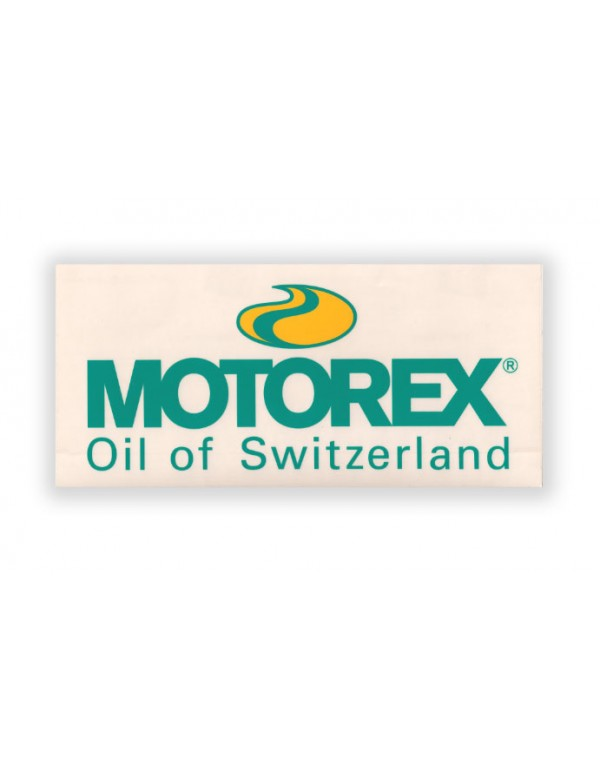 Autocollant / Sticker Motorex 24cm x 11cm Transparent