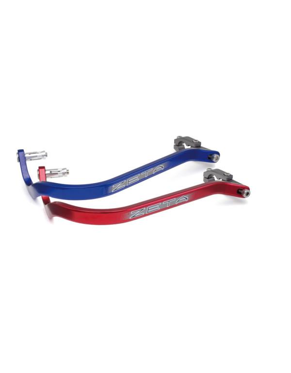 Barres de protège-mains zeta couleur bleue ou rouge