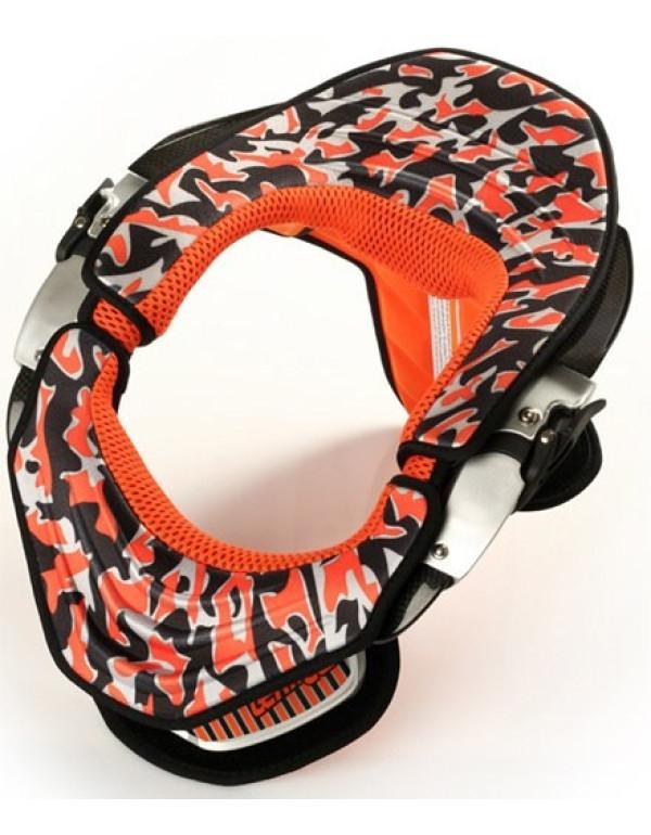 Kit déco Orange Camo avec mousses pour leatt brace