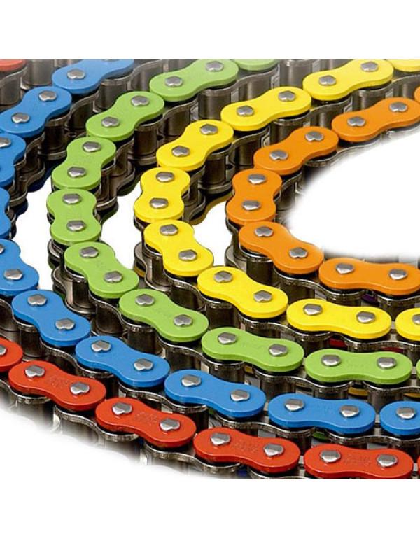 Chaîne moto 520 colorée X-ring et sans joint
