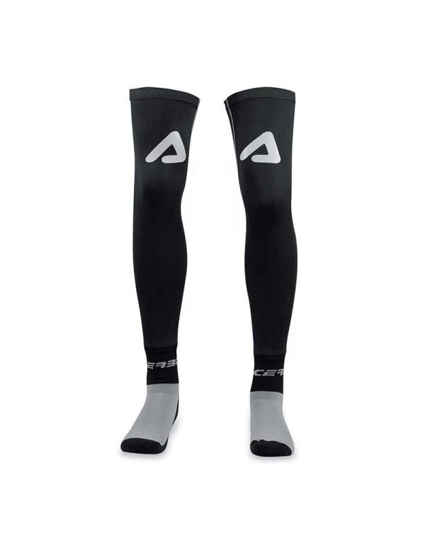 Chaussettes longues renforcées ACERBIS X-LEG-Gris / Noir-S / M