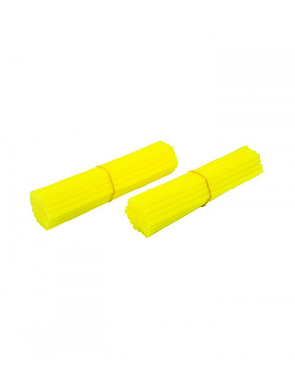 Couvre-rayons de moto jaune fluorescent