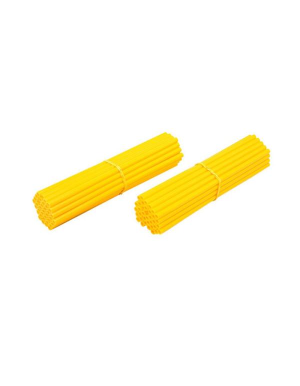 Couvre-rayons de moto jaune