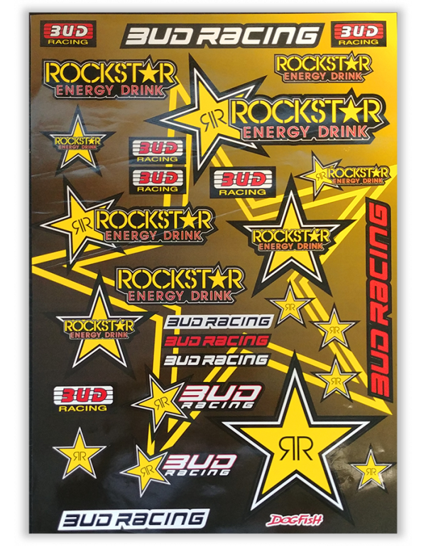 Planche de stickers Rockstar Energy - Budracing