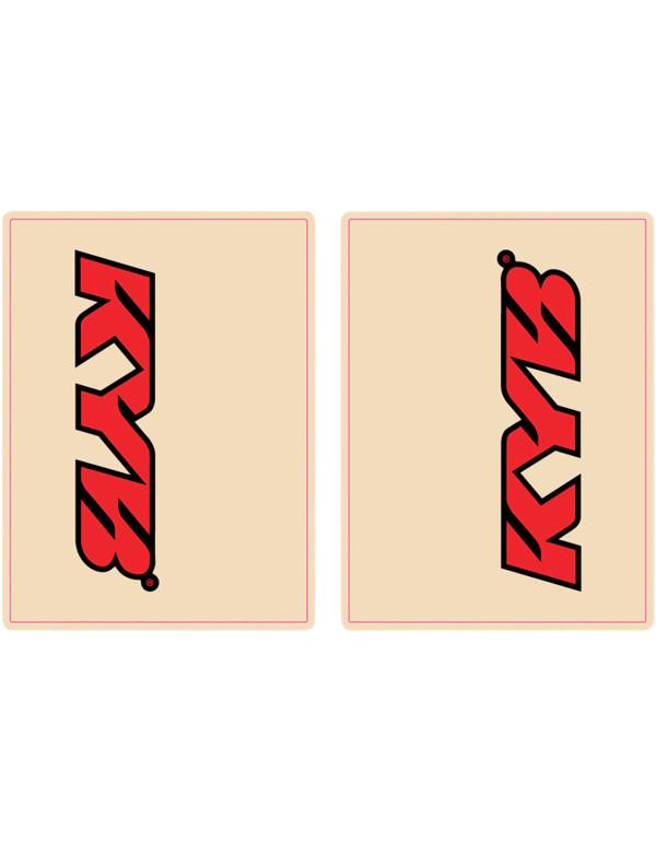 Stickers de tube de fourche KYB rouge