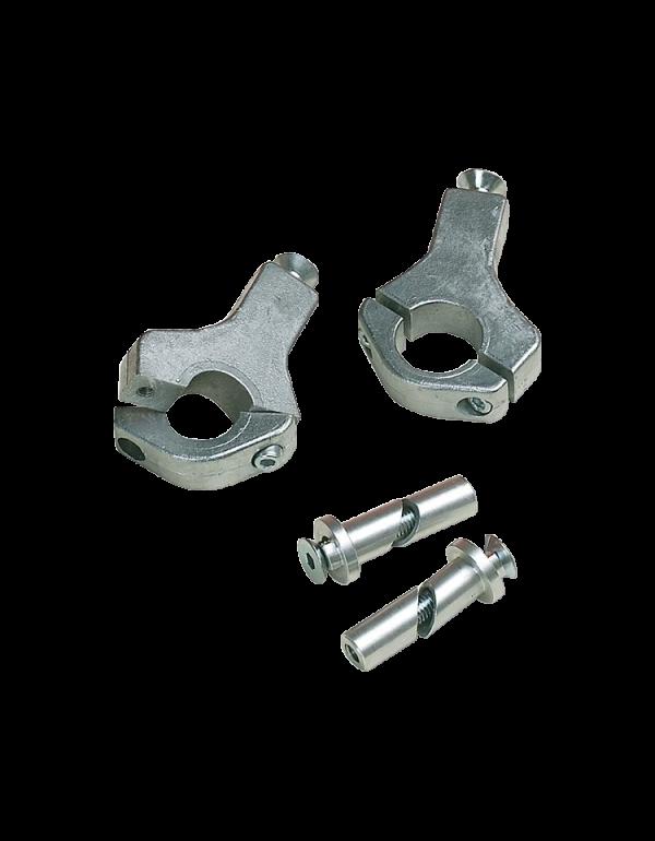 KIT FIXATION DE RECHANGE pour protège-mains alu (la paire) - 22.2mm