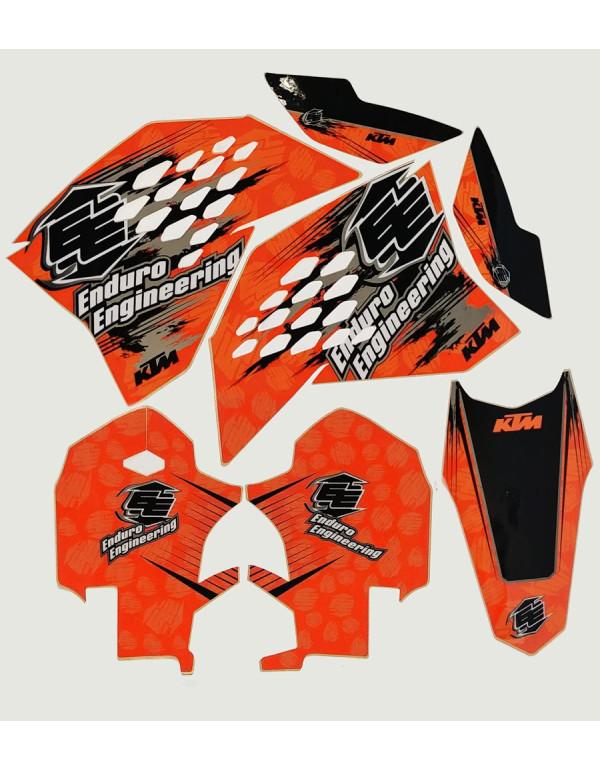 Kit Déco pour KTM 125cc et + SX 07 / 09 - EXC 08 / 09