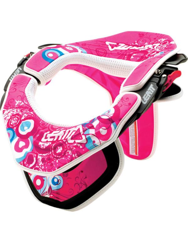 Kits déco rose Fiolek - mousses + stickers pour leatt brace