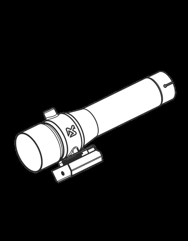 Akrapovic link pipe with valve LP-HDTO2/1