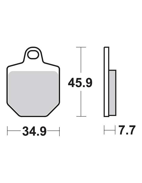 Jeu de 4 plaquettes de frein avant Métal fritté Carbone BENDIX pour Husaberg FS570 2010 - 2011