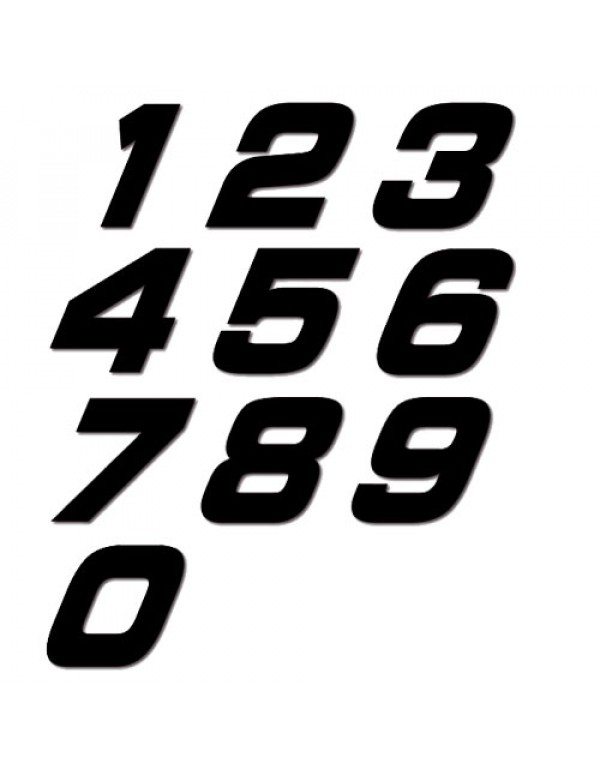 Numéros de plaques moto NGX 15cm