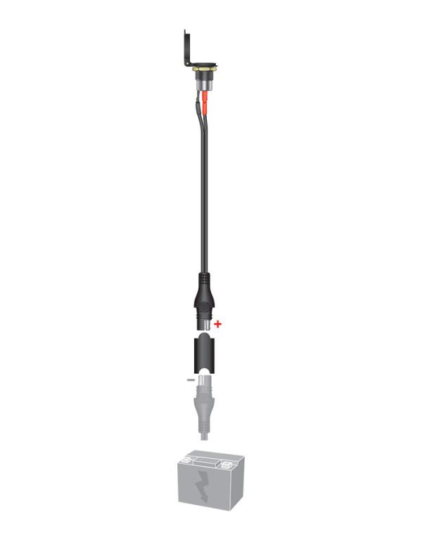 Accessoires pour chargeurs TECMATE Optimate et Accumate-Prise chassis DIN femelle étanche à ressort O-18
