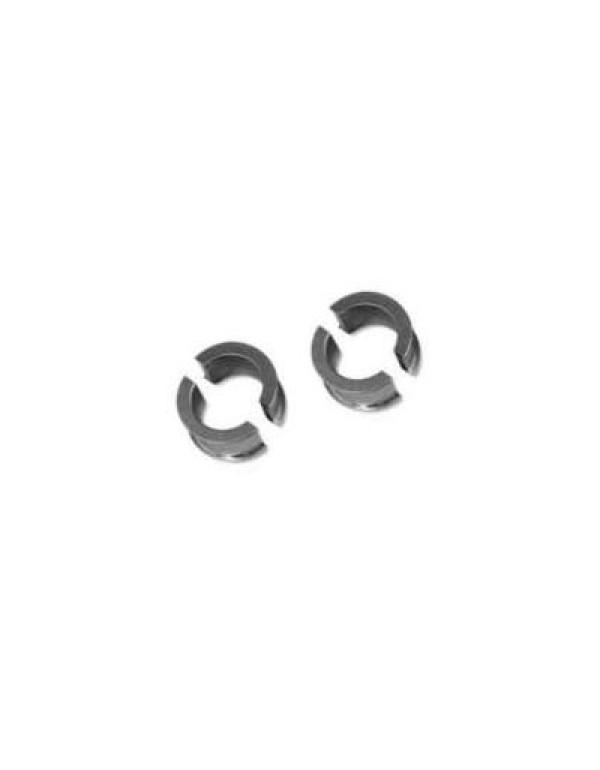 2 paires de 1/2 bague protège-mains Acerbis Multiplo pour guidon Diam. 28 Alu