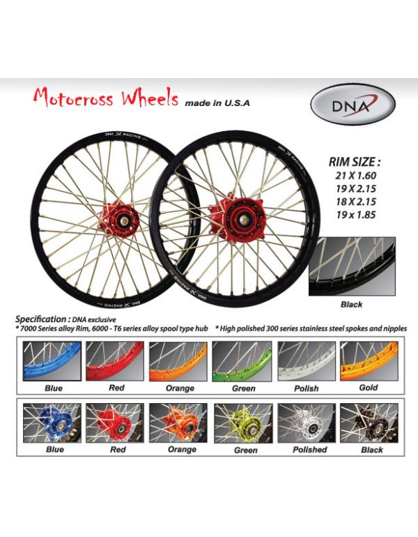 Paire de roues DNA Motocross / Enduro / supermotard pour Honda CR / CRF 125cc à 450cc