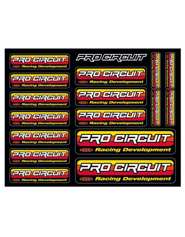Planche de stickers logo Pro Circuit