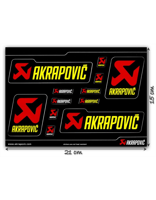 Planche de stickers Akrapovic