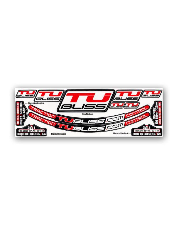 Planche de stickers de rechange TUbliss avec stickers de roues