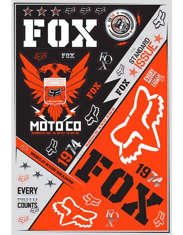 Planche de stickers FOX Covert
