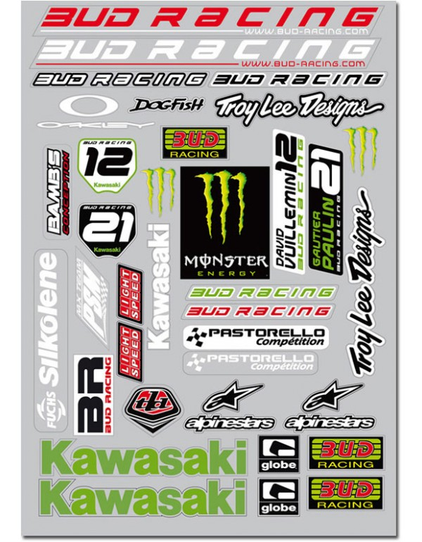 Planche de stickers TEAM 09