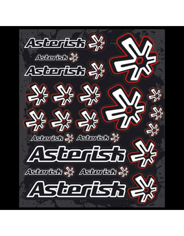 Planche stickers ASTERISK