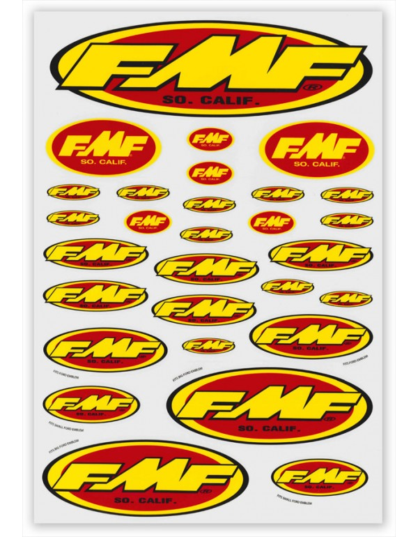 Planche stickers FMF